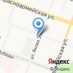 Золотой кий на карте Йошкар-Олы