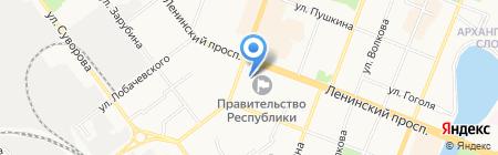 Правительство Республики Марий Эл на карте Йошкар-Олы