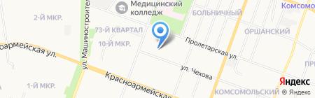 Дружная семейка на карте Йошкар-Олы