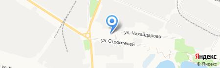 Пактика на карте Йошкар-Олы