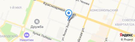 КомСел на карте Йошкар-Олы