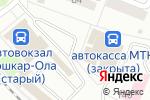 Схема проезда до компании Ермолино в Йошкар-Оле