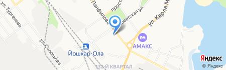 Хозяйственные товары на карте Йошкар-Олы