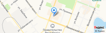 Усадьба на карте Йошкар-Олы
