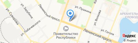 Министерство лесного хозяйства на карте Йошкар-Олы