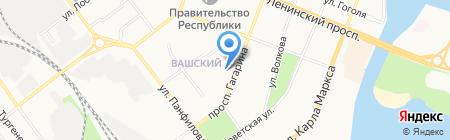 Детский сад №4 Семицветик на карте Йошкар-Олы