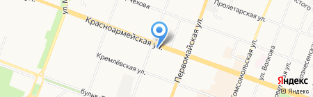 Витрина на карте Йошкар-Олы
