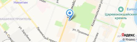 Стрекоза на карте Йошкар-Олы