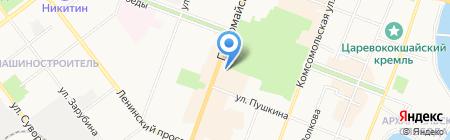 Карнавал на карте Йошкар-Олы