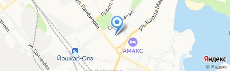 СДЮСШОР по спортивной гимнастике на карте Йошкар-Олы