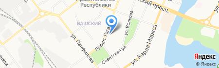 Поликлиника №1 г. Йошкар-Олы на карте Йошкар-Олы
