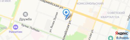 Ласковые сети на карте Йошкар-Олы