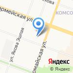 Йошкар-Олинский строительный техникум на карте Йошкар-Олы