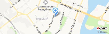 Марийская правда на карте Йошкар-Олы