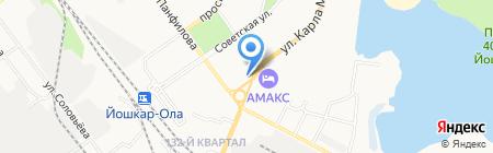 АЗС Лукойл на карте Йошкар-Олы