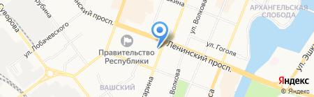 Центр Защиты на карте Йошкар-Олы