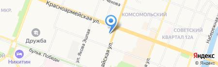 Атторней на карте Йошкар-Олы
