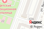 Схема проезда до компании Рубеж в Йошкар-Оле