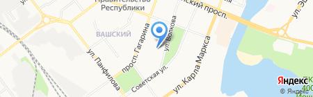 Эрвий на карте Йошкар-Олы