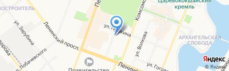 Лайт на карте Йошкар-Олы