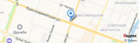 Махаон на карте Йошкар-Олы