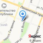 Поликлиника №5 г. Йошкар-Олы на карте Йошкар-Олы