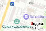 Схема проезда до компании Банк Йошкар-Ола, ПАО в Йошкар-Оле