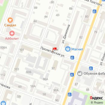 г. Йошкар-Ола, ул. Пролетарская, на карта