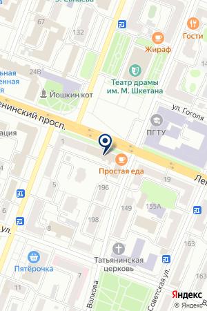 Центр лицензионной разрешительной работы отдел Федеральной Службы Войск Национальной Гвардии РФ по Республике Марий Эл на карте Йошкар-Олы