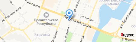 Лана на карте Йошкар-Олы