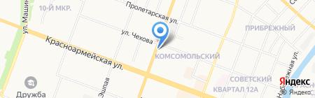 Мясной дворик на карте Йошкар-Олы