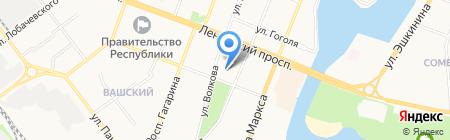 ПГТУ на карте Йошкар-Олы