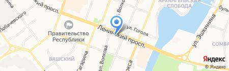 Компик на карте Йошкар-Олы