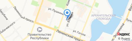 Серебряный ручей на карте Йошкар-Олы