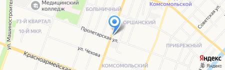 Домоуправление №4 на карте Йошкар-Олы