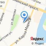Поволжский государственный технологический университет на карте Йошкар-Олы