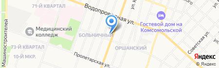 Аквамастер Марий Эл на карте Йошкар-Олы