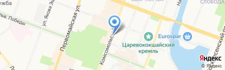 Шторберри на карте Йошкар-Олы