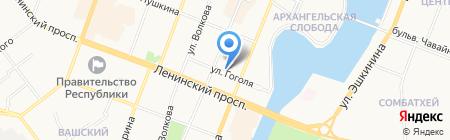 Бисмарк на карте Йошкар-Олы