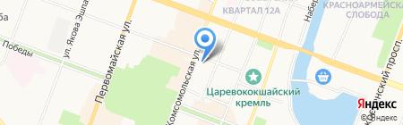 Верховный суд Республики Марий Эл на карте Йошкар-Олы