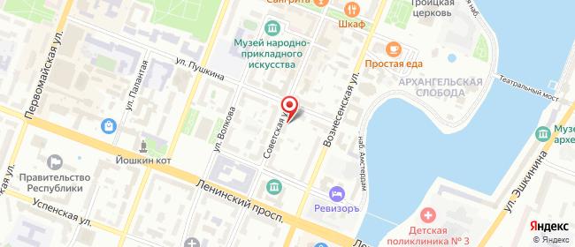 Карта расположения пункта доставки Lamoda/Pick-up в городе Йошкар-Ола