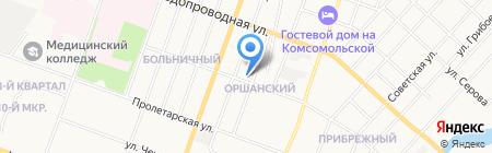 Какаду на карте Йошкар-Олы