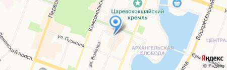 Хрусталик на карте Йошкар-Олы