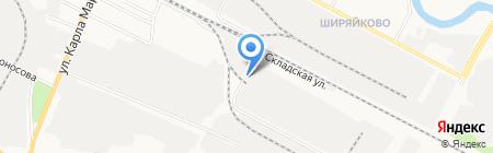 Русь-Бейкери на карте Йошкар-Олы
