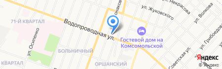 Мотель на Водопроводной на карте Йошкар-Олы