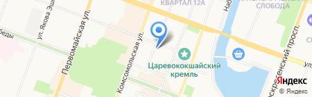 Управление ФСБ России по Республике Марий Эл на карте Йошкар-Олы