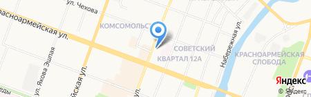 Детская поликлиника №1 на карте Йошкар-Олы