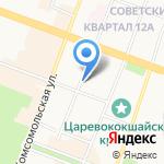 Управление ГИБДД МВД по Республике Марий Эл на карте Йошкар-Олы