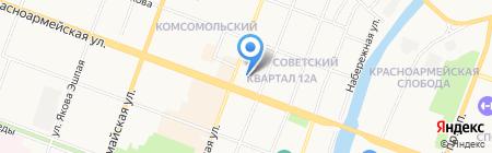 Фермион на карте Йошкар-Олы