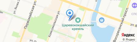 Работа Сегодня на карте Йошкар-Олы